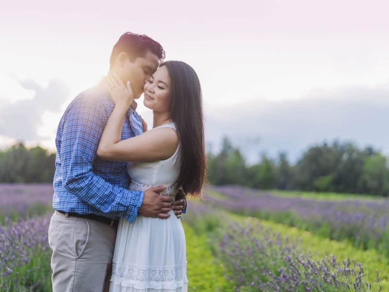 Terre Bleu Lavender Farm engagement photos