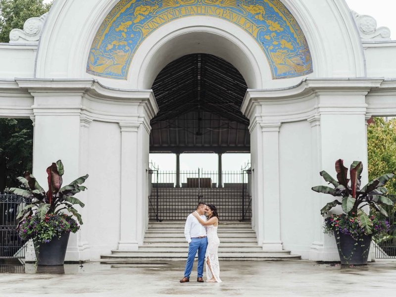 sunnyside Pavilion Engagement Photos