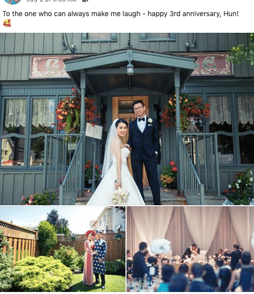 wedding anniversary share post