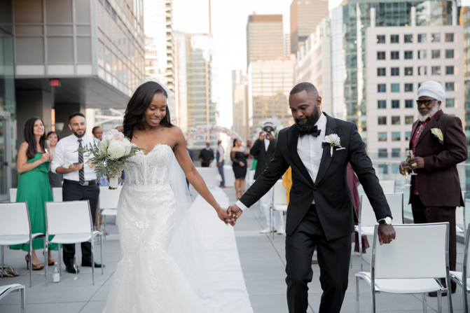 rooftop wedding in downtown toronto